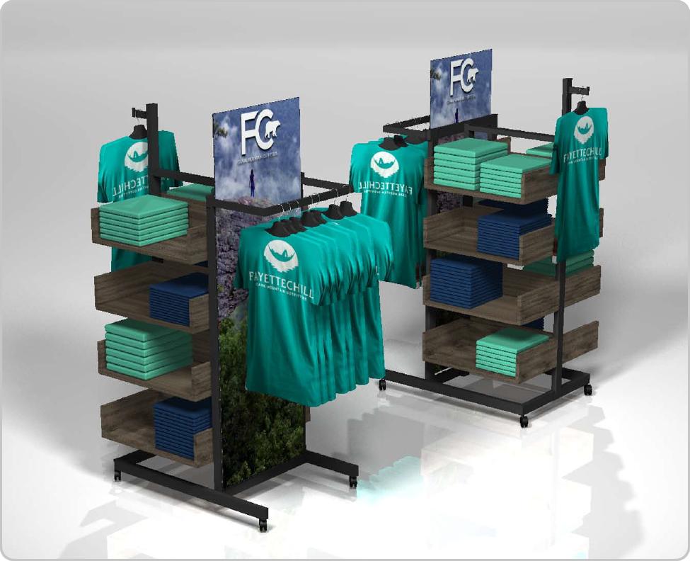 4-Way Retail Fixture