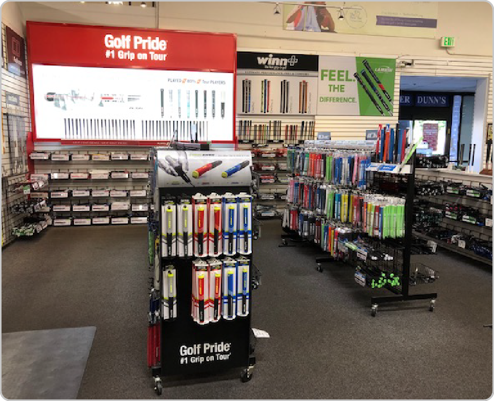 golf retail display