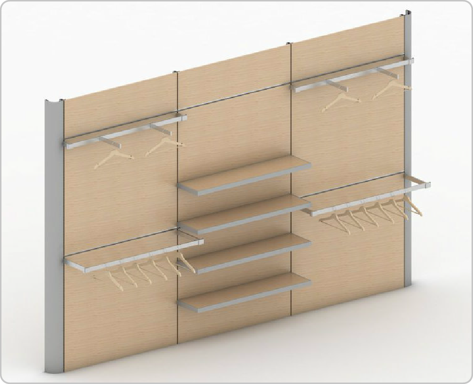 flexible retail wall system