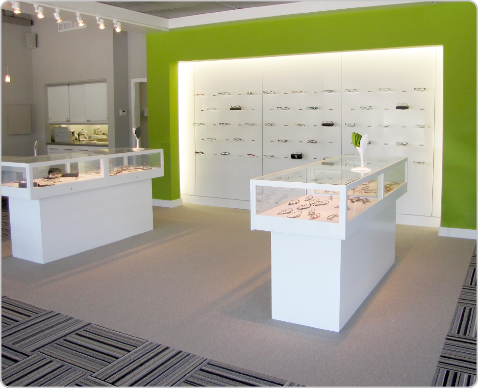 eyewear retail space