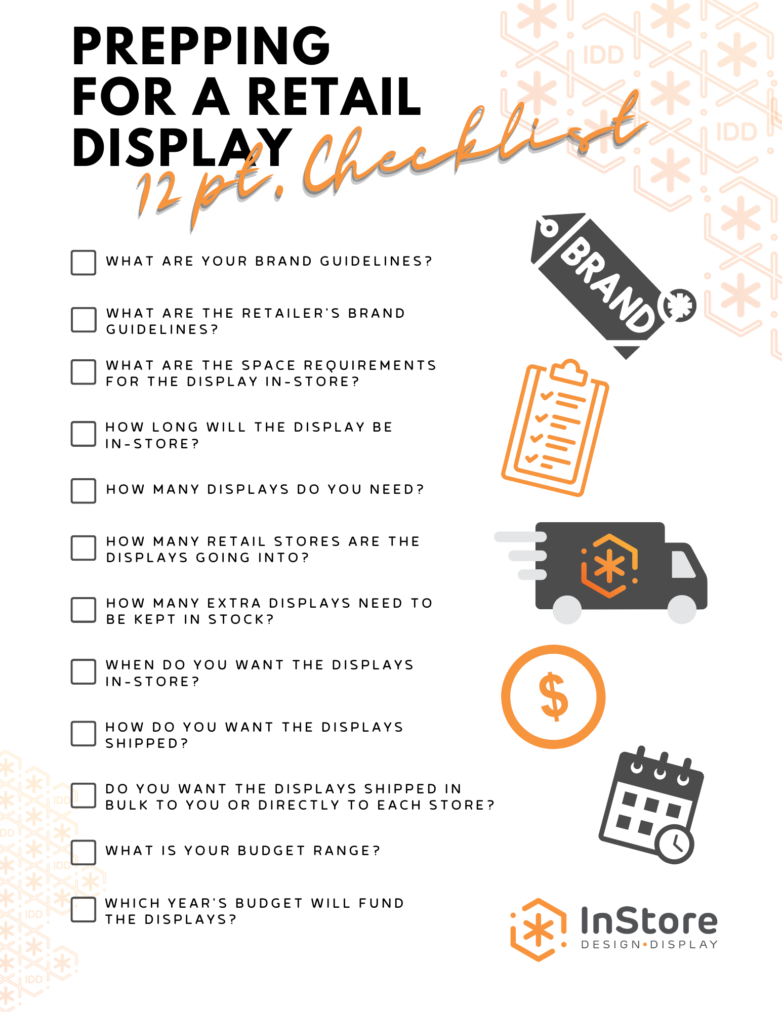 12 point prep for display checklist