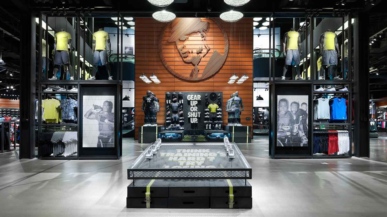 Nike Decompression Zone merchandise Display