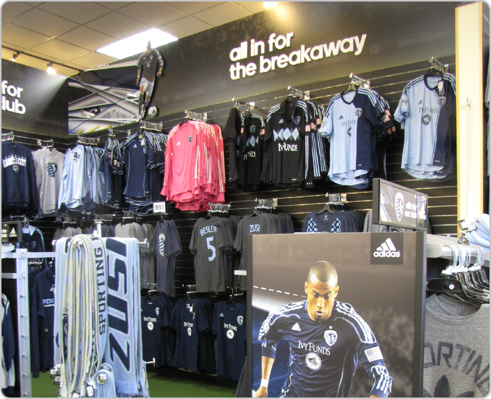 Rally House Focal Wall Merchandise Display